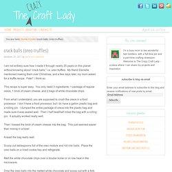 crack balls (oreo truffles) - The Crazy Craft Lady