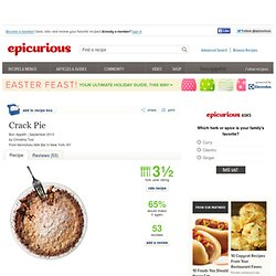 Crack Pie Recipe at Epicurious