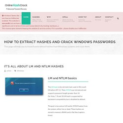 How to crack Windows Passwords