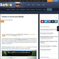 Cracker un mot de passe MySQL