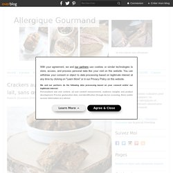 Crackers aux graines { sans gluten, sans lait, sans œufs } - Allergique Gourmand