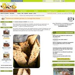 Recette Crackers aux céréales germées, lin, fromage fines herbes, apéritif par Cuisine minceur et vitalité