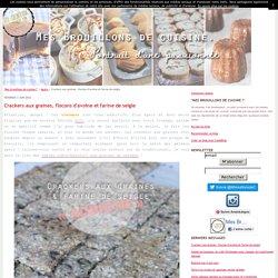 Crackers aux graines, flocons d'avoine et farine de seigle