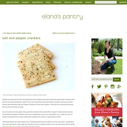 Healthy Paleo Cracker Recipe