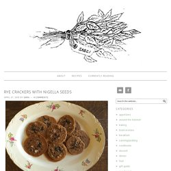Rye crackers with nigella seeds – Sabzi