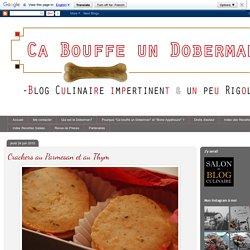 Ca bouffe un Doberman: Crackers au Parmesan et au Thym