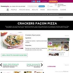 Crackers façon pizza : Recettes d'apéritif dinatoire