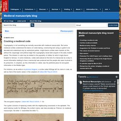 Cracking a medieval code