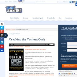 Cracking the Content Code