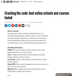 Cracking the code: best online schools and courses tested