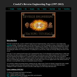 CrackZ's Reverse Engineering Page (1997-2010).