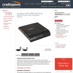 Cradlepoint ARC MBR1400 Series Branch Router with Integrated 3G/4G
