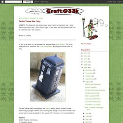 craft:g33k: Tardis Tissue Box Cozy