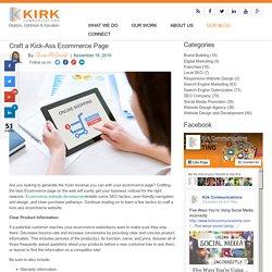 Craft a Kick-Ass Ecommerce Page