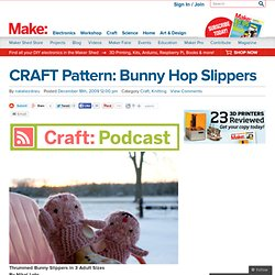 CRAFT Pattern: Bunny Hop Slippers