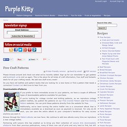 Free Craft Patterns | Knitting & Crochet | Red Heart Yarn | Purple Kitty