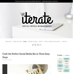 Craft the Perfect Social Media Bio in Three Easy Steps — ITERATE SOCIAL