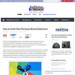 How to Craft Your Personal Brand Statement