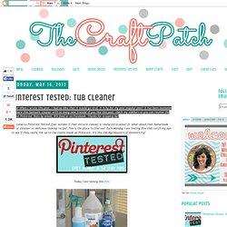 Pinterest Tested: Tub Cleaner