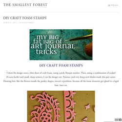 DIY craft foam stamps