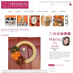 how to make a fall wreath idea | Craftaholics Anonymous