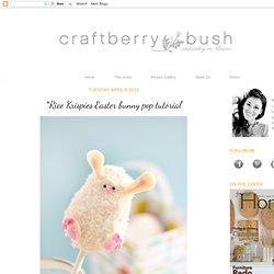 *Rice Krispies Easter bunny pop tutorial