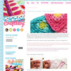 Carina's Craftblog: Crochet magic ring tutorial