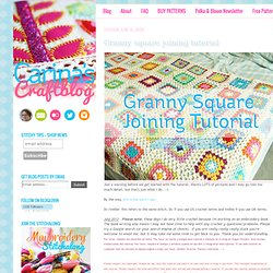 Carinas Craftblog: Granny square joining tutorial - StumbleUpon