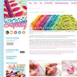 Carina's Craftblog: Tutorial: crochet granny triangle