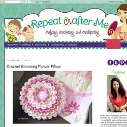 Crochet Blooming Flower Pillow