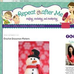 Crochet Snowman Pattern
