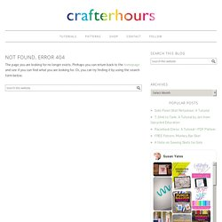 crafterhours: upcycle