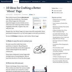 9 Ideas for Crafting a Better 'About' Page