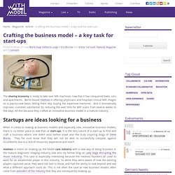 Crafting the business model – a key task for start-ups