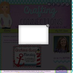 Crafting Connections: Anchors Away Monday {8.4.14} Types of Sentences