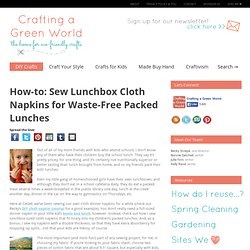 Sew Lunchbox Cloth Napkins for Waste-Free Packed Lunches