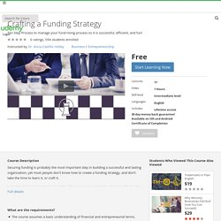 Crafting a Funding Strategy