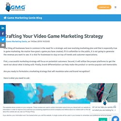 Crafting Your Video Game Marketing Strategy