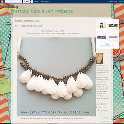 DIY : Statement Necklace