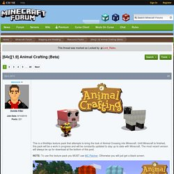 [64x][1.9] Animal Crafting (Beta) - Resource Packs - Mapping and Modding - Minecraft Forum