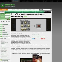 7 crafting systems game designers should study