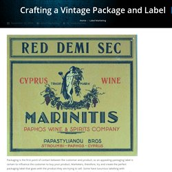 Crafting a Vintage Package and Label - Jet-Label