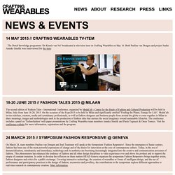 Crafting Wearables // NEWS
