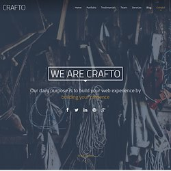 Crafto - One page responsive HTML template