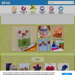 Kids Crafts and Activities : 355 homemade arts and craft ideas for children