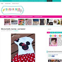 Minnie Outfit, hairclip - and labels!