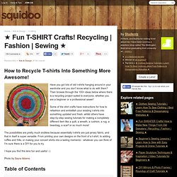 ★ Fun T-SHIRT Crafts! Recycling