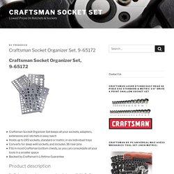Craftsman Socket Organizer Set, 9-65172 Holds up to 195 sockets