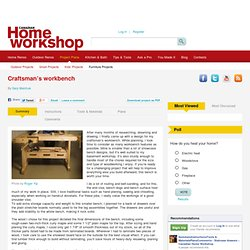 Craftsman's workbench – Canadian Home Workshop