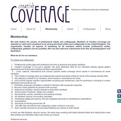 Press coverage for artists and craftspeople - PR and promotion opportunities through Creative Coverage
